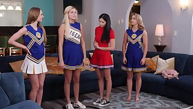 Ariana Marie and Zoey Taylor are hot cheerleaders who love rubbing away pussy