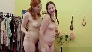 Hairy lesbian gingers lick cunts and give rimjobs