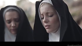 One sinful nuns are licking at all times others pussies for the first time