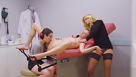 Haley Reed, Serene Siren and Serena Blair enjoy eating their wet pussies