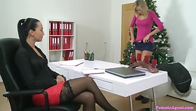 Girl in the first place girl sex action during casting with Jenny Smart and Vanessa