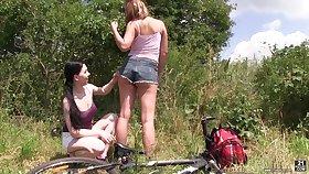 Charming lesbian Lexi Well forth enjoys having sex fun with one stranger girl