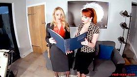 Titillating Red XXX seduces her hot blonde old hat modern