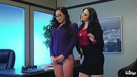 Naughty secretry punished apart from her boss - Karlee Grey and Chanel Preston