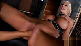 smoking hot mistress alongside thigh high boots and gloves lezdom