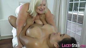 Elder british whore fingering chubby latina lady