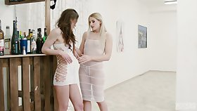 Diane Christall puts her toungue coupled with fingers in puss of Nana Garnet