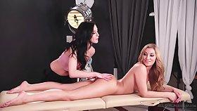 Moka Mora and Aiden Ashley took off their rags and started making love, like flawless lesbians
