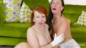 Mature dykes, Lara and White-hot are eager to make love with each other, for everyone day long