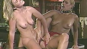 Lesbian lovemaking on the pool table with natural tits Anika La Rue