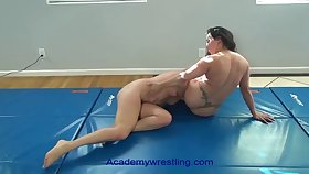 academywrestling.com  womanlike fighting with scissors, arm bars, headlocks and submissions as the loser is d to eat pussy
